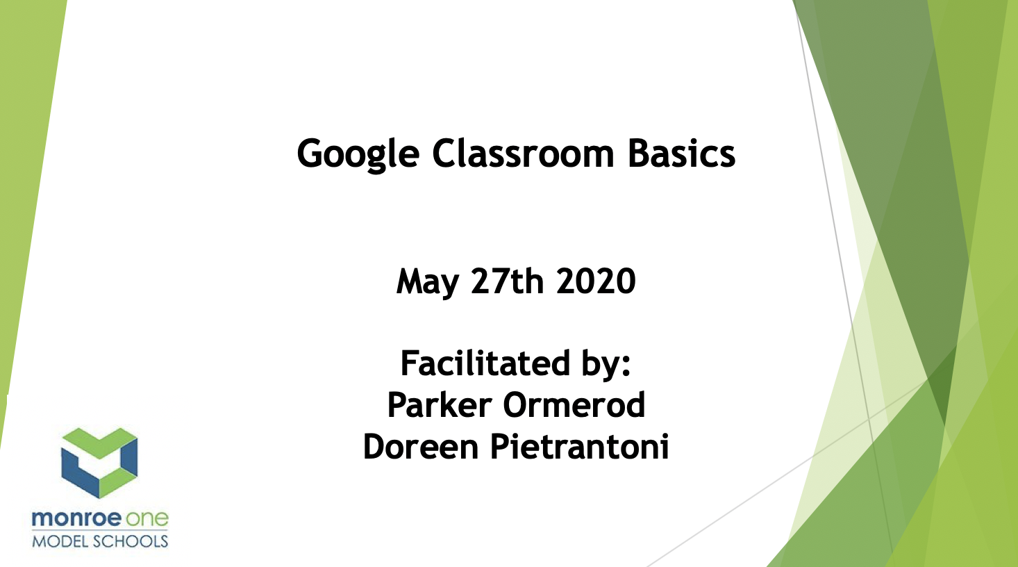 Google Classroom Basics