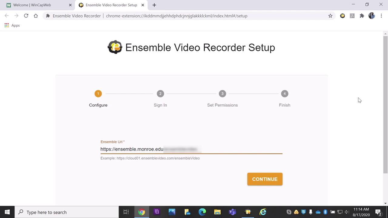 Ensemble Tutor Clips-Ensemble Chrome Extension Rec...