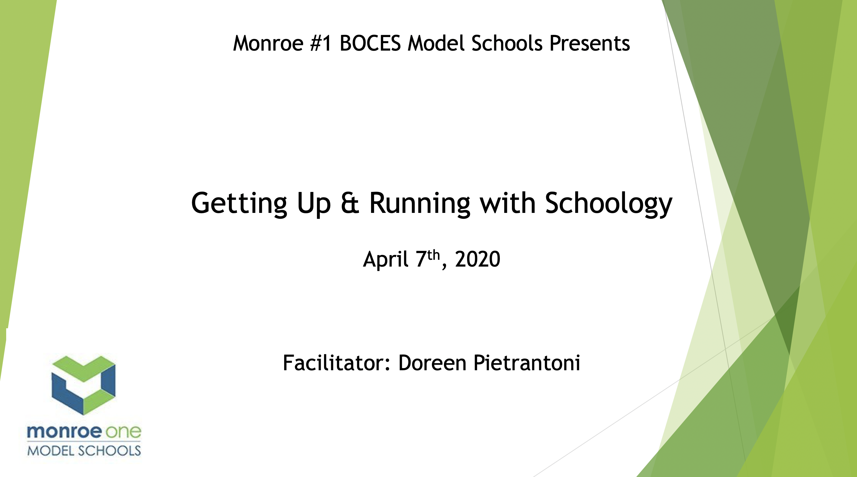 Getting Up & Running With Schoology