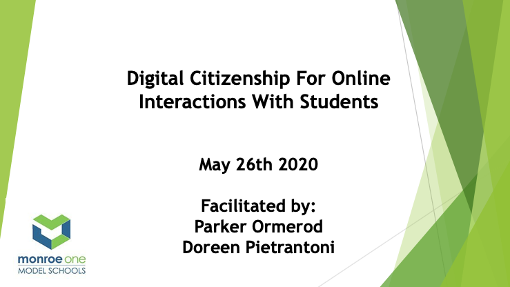 Digital Citizenship for Online Interactions with S...